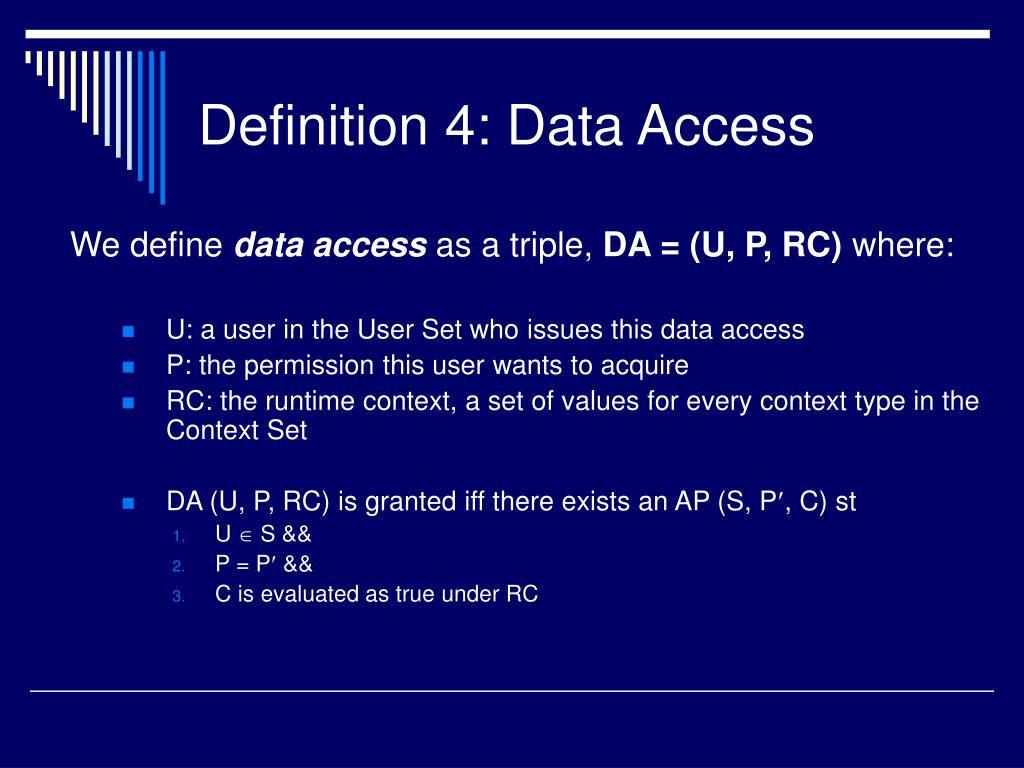 Definition 4: Data Access