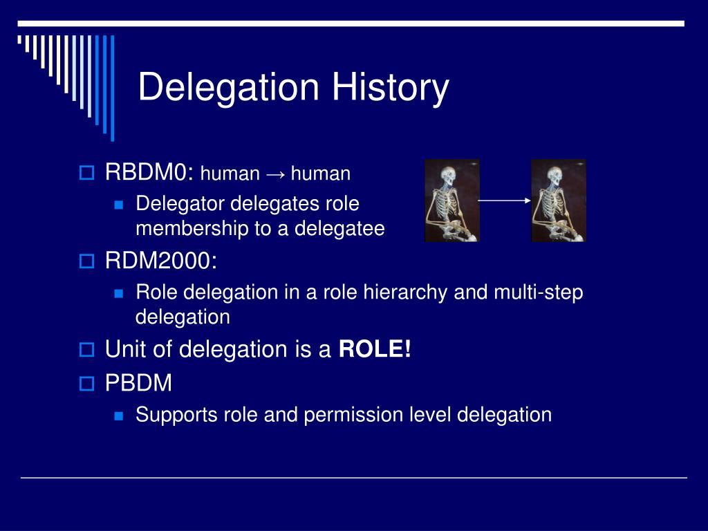 Delegation History