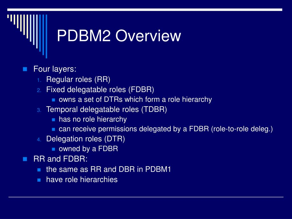 PDBM2 Overview