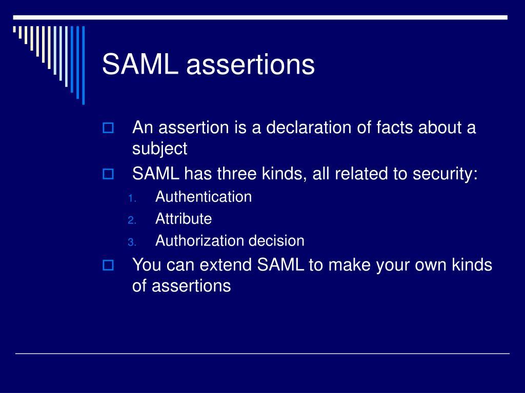 SAML assertions