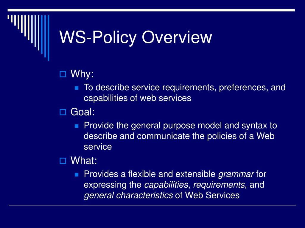 WS-Policy Overview
