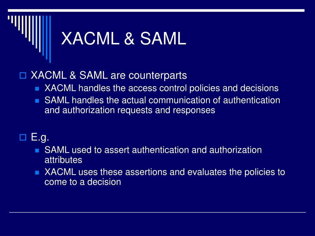 XACML & SAML