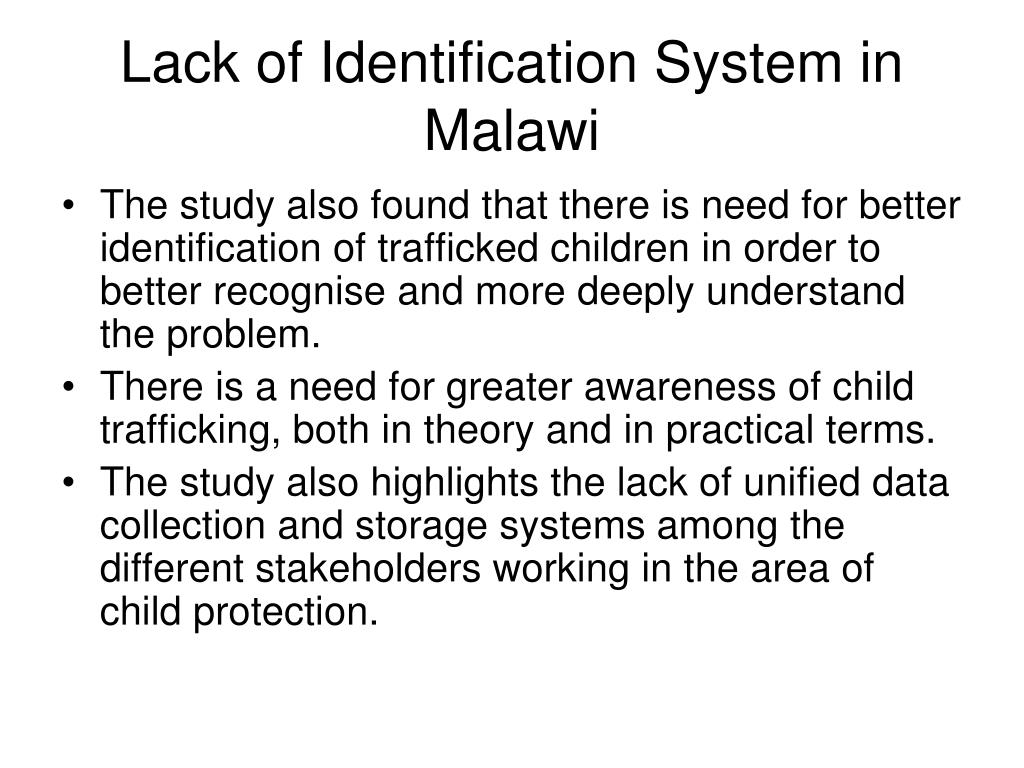 Lack of Identification System in Malawi