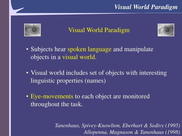 Visual World Paradigm