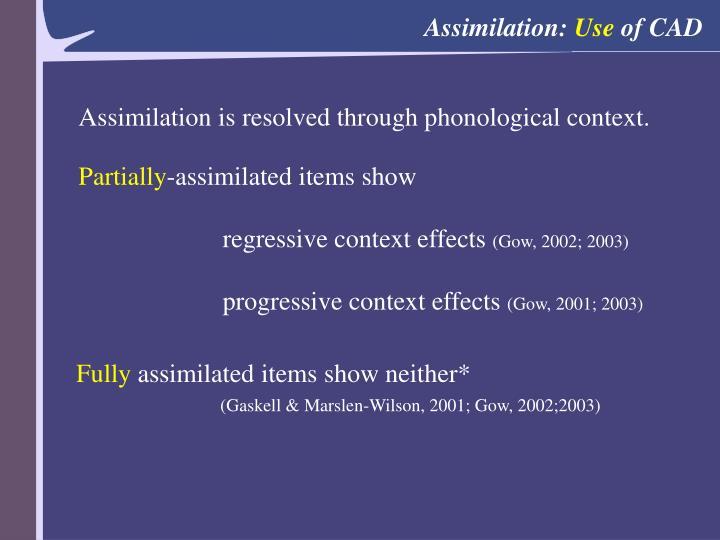 Assimilation: