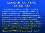 learn to learn from experience