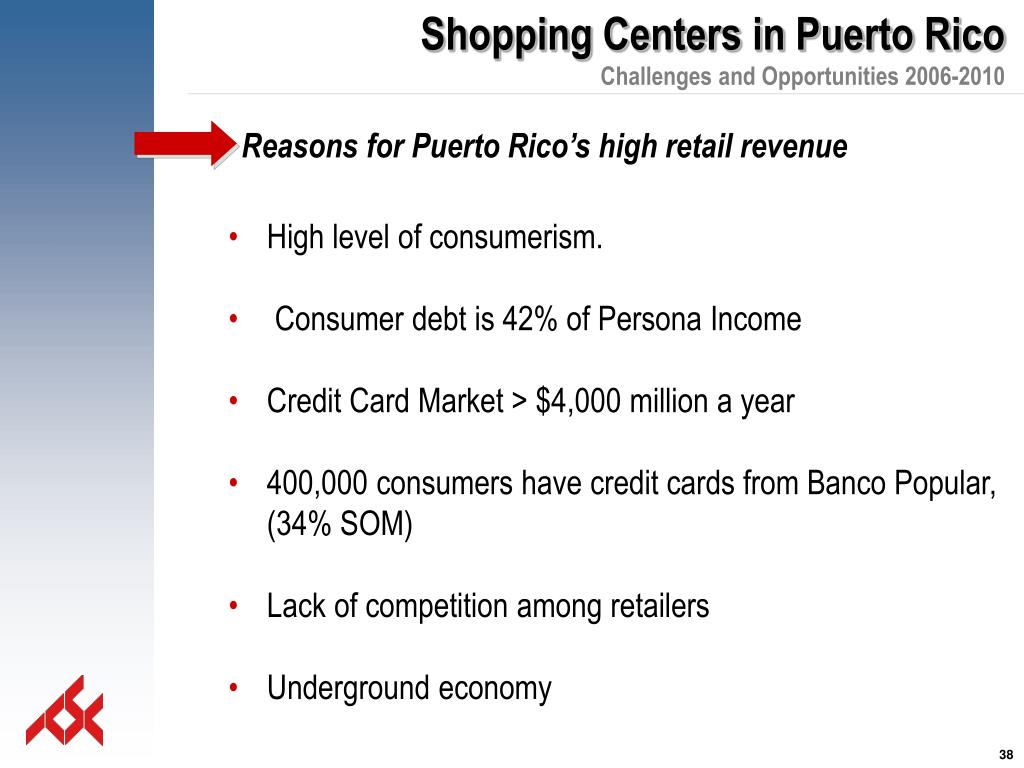Reasons for Puerto Rico's high retail revenue