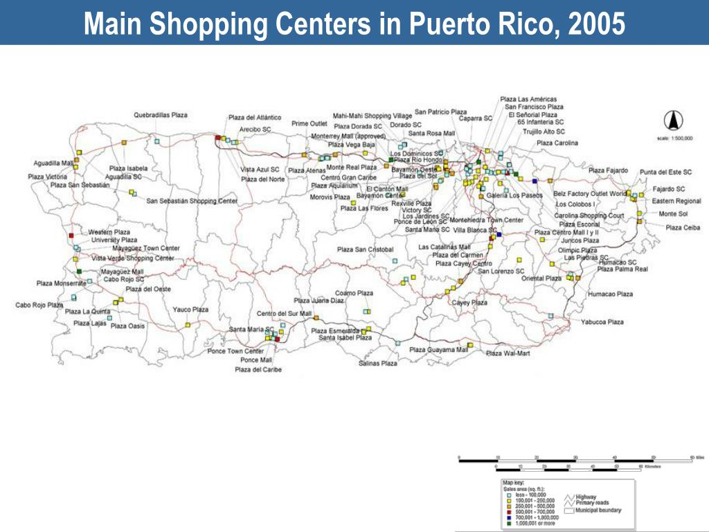Main Shopping Centers in Puerto Rico, 2005