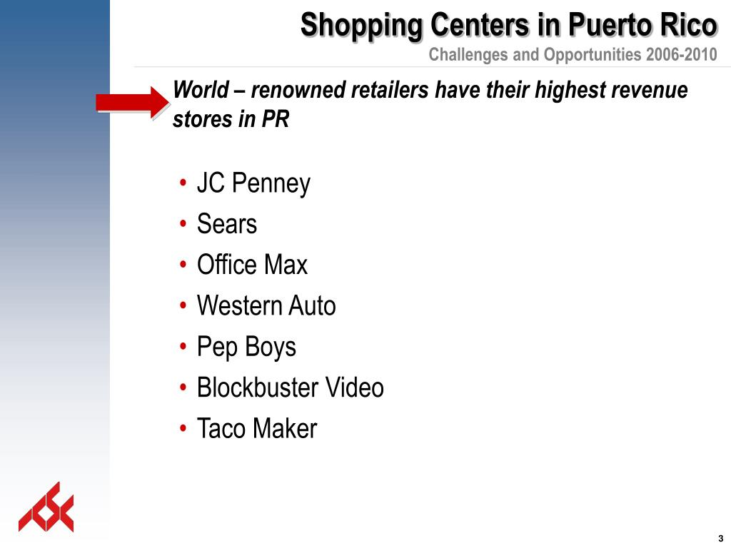 World – renowned retailers have their highest revenue stores in PR