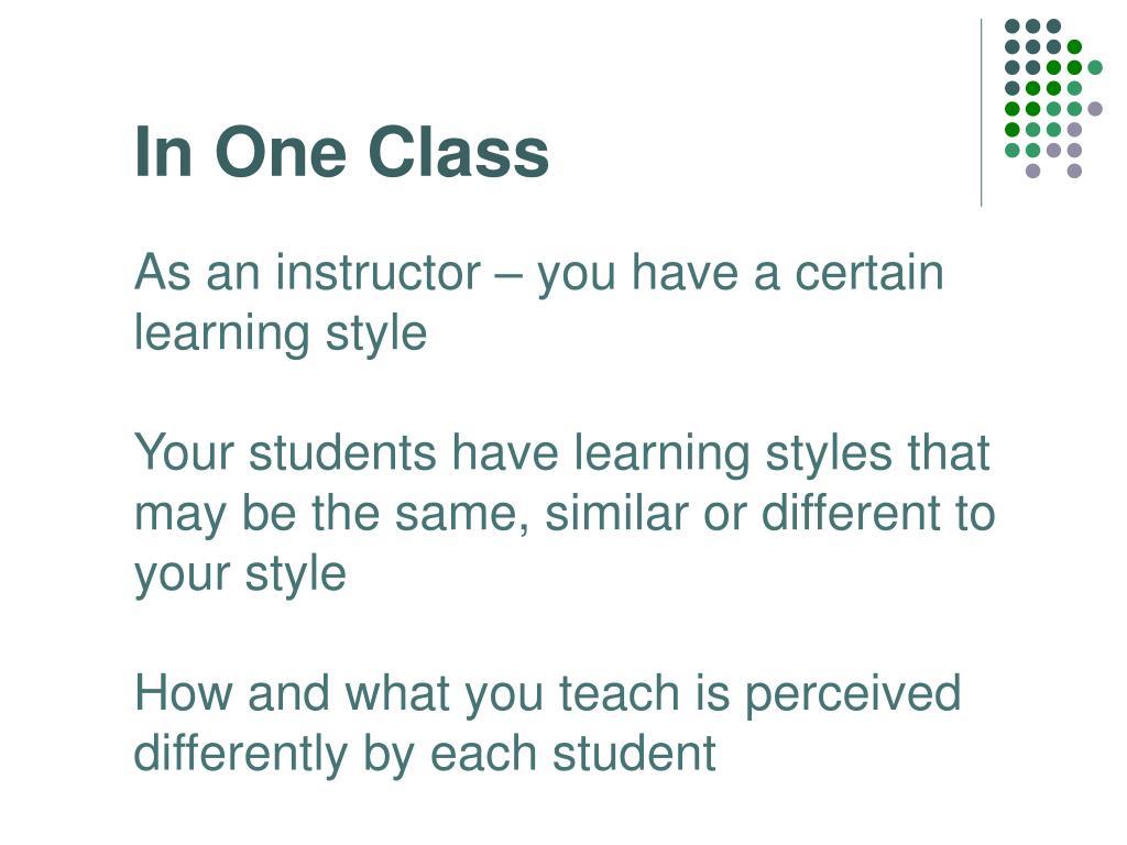 In One Class