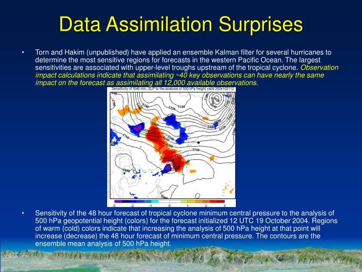 Data Assimilation Surprises