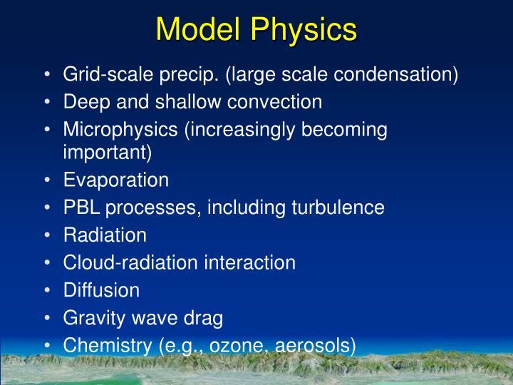 Model Physics