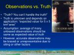 observations vs truth