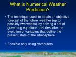 what is numerical weather prediction