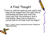 a final thought