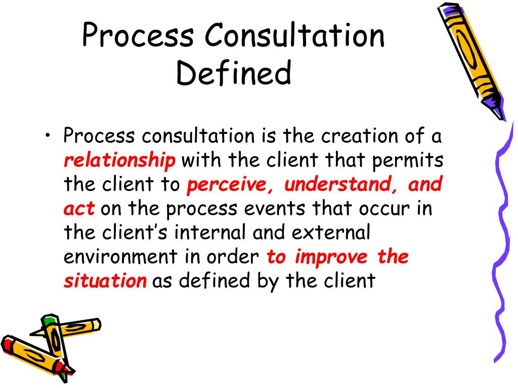 Process Consultation Defined