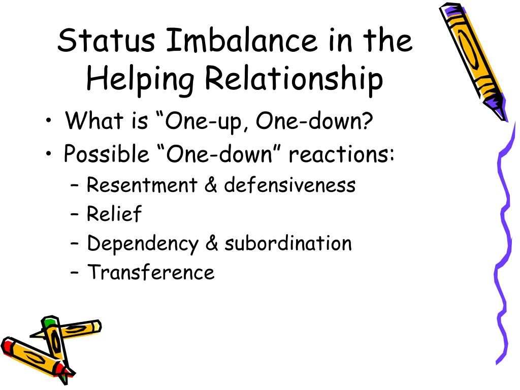 Status Imbalance in the Helping Relationship