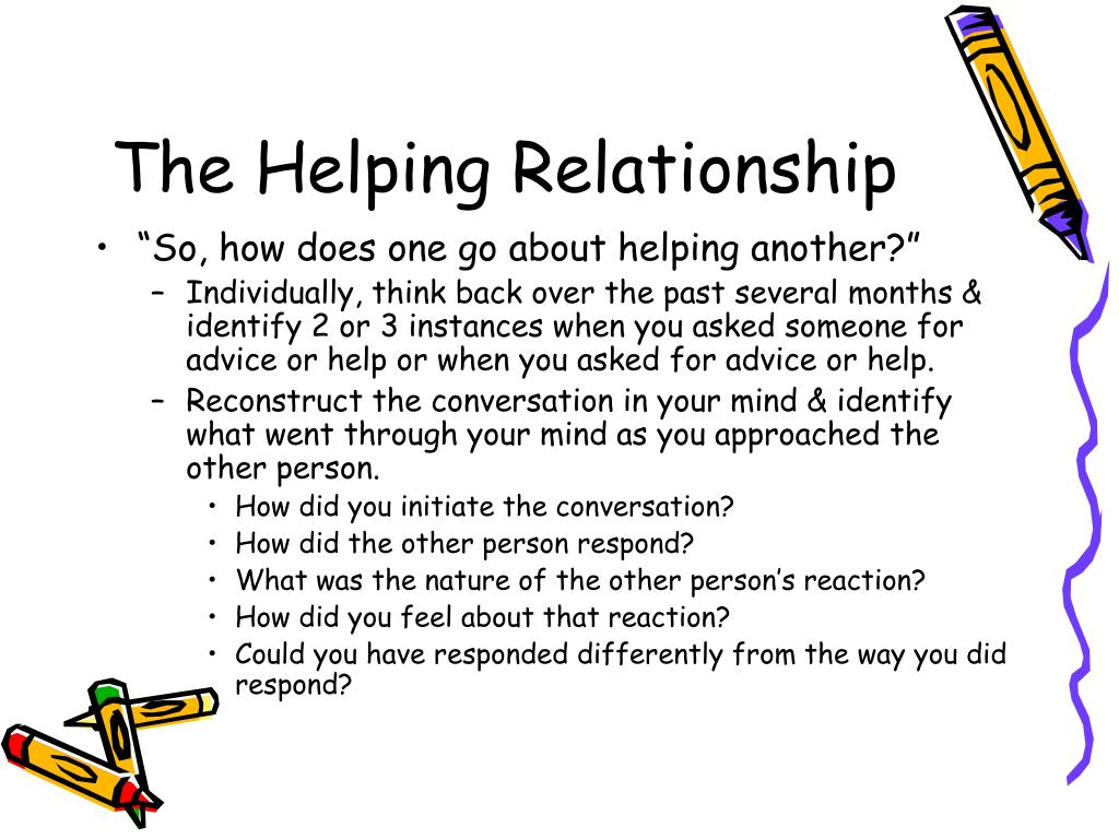 The Helping Relationship