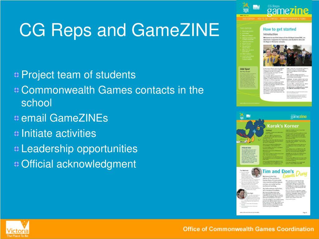 CG Reps and GameZINE
