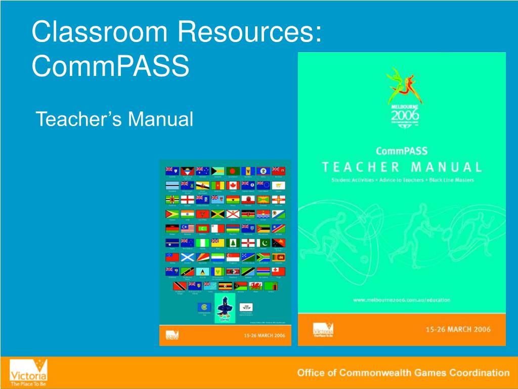 Classroom Resources: CommPASS