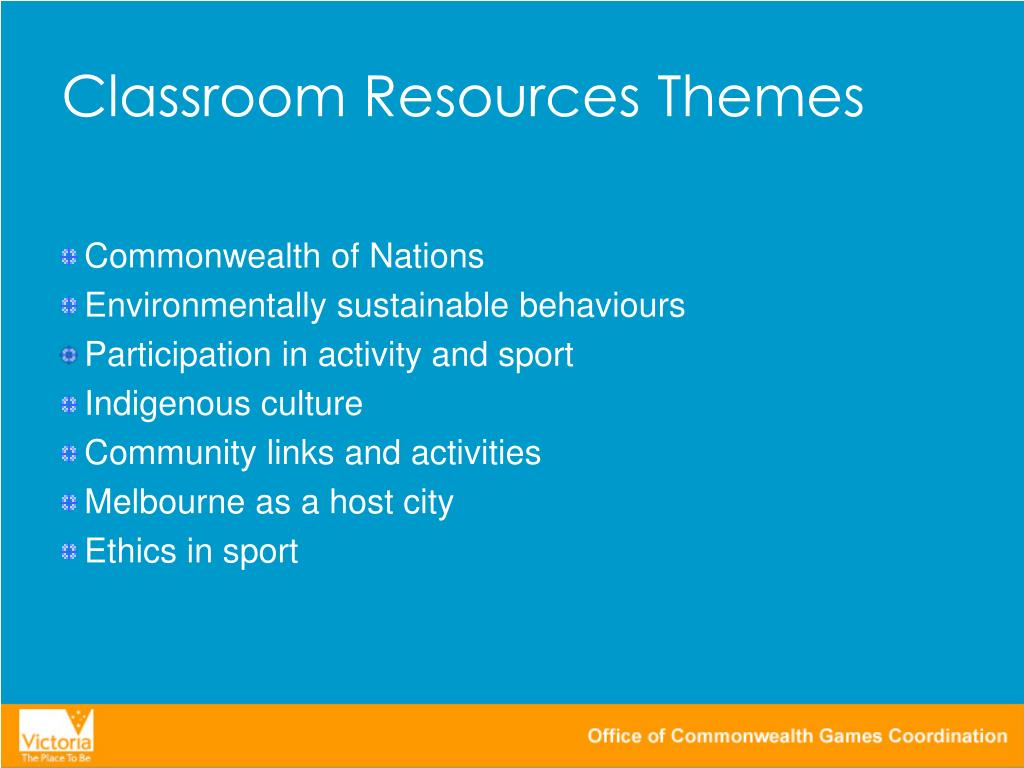 Classroom Resources Themes