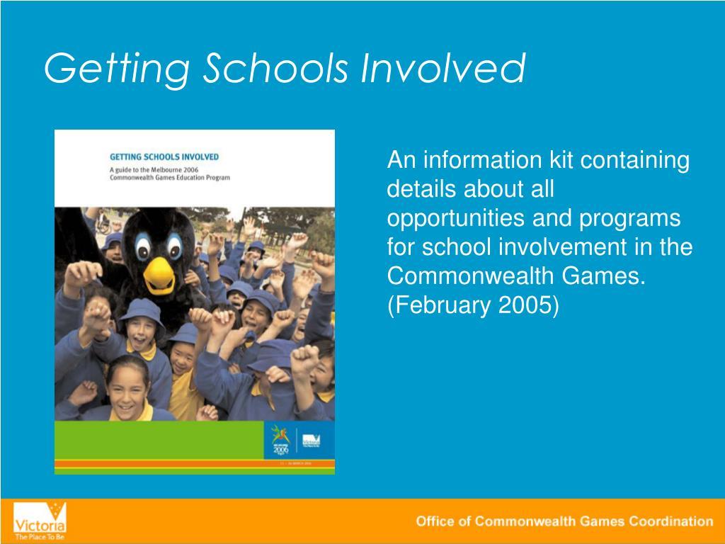 Getting Schools Involved