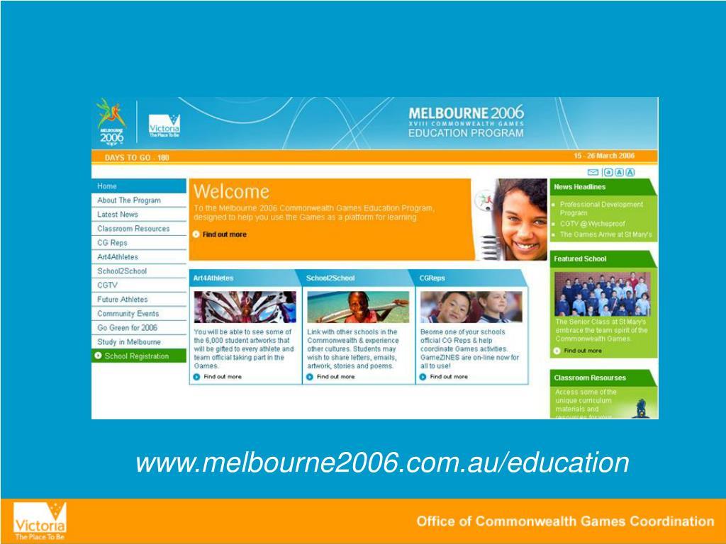 www.melbourne2006.com.au/education