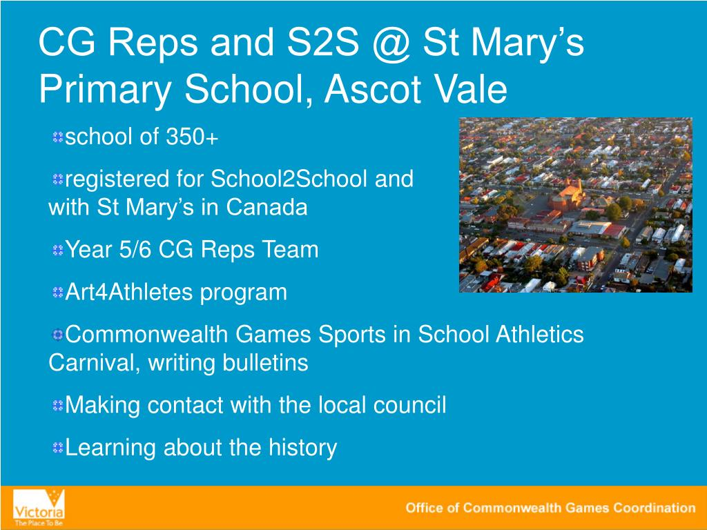 CG Reps and S2S @ St Mary's Primary School, Ascot Vale