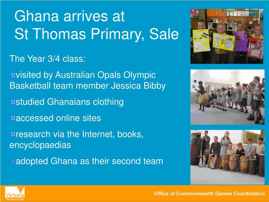 Ghana arrives at