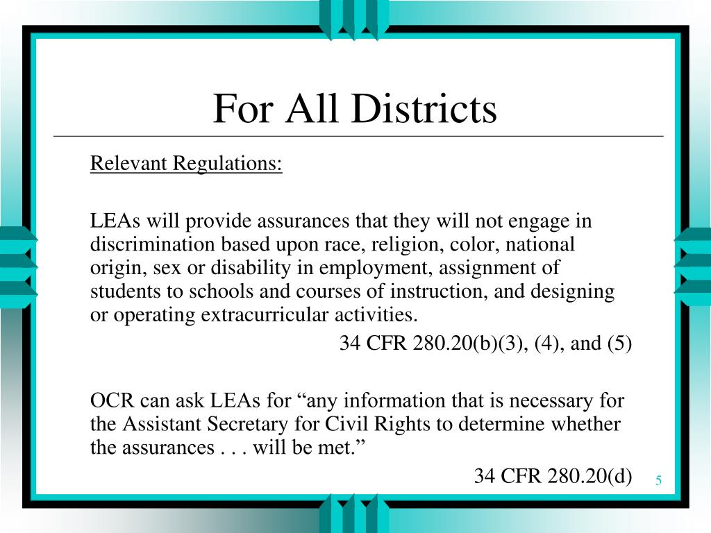 For All Districts