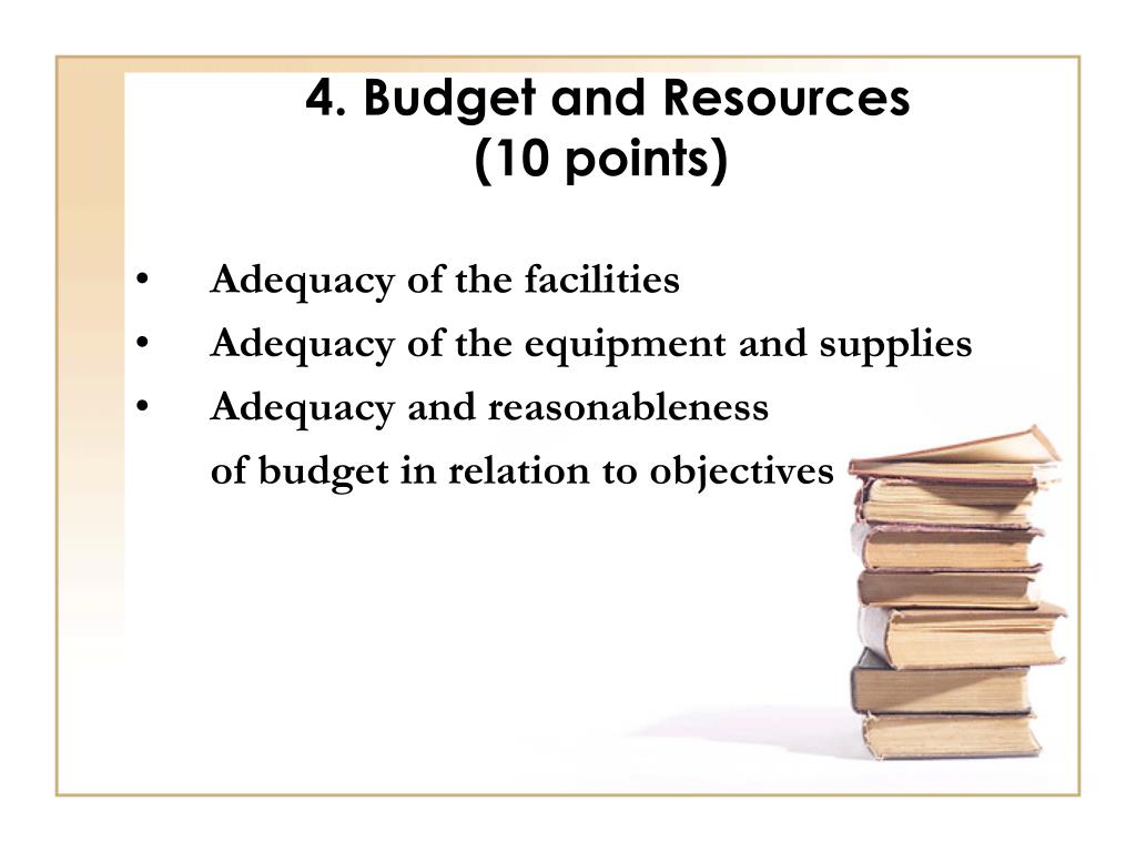 4. Budget and Resources