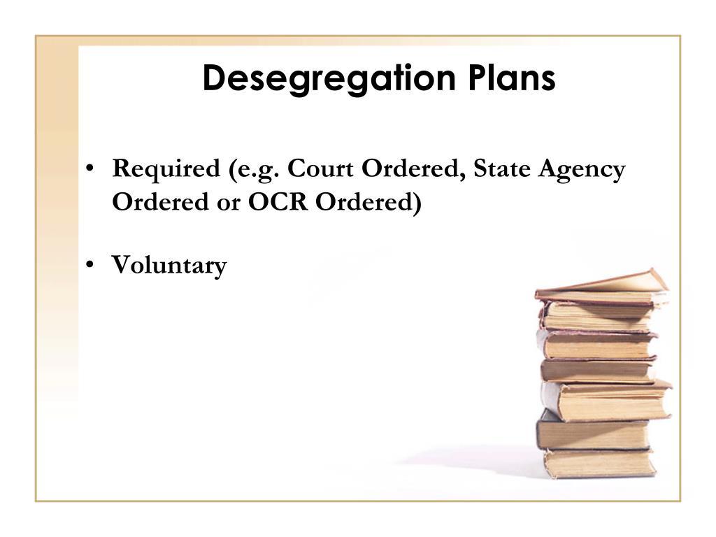 Desegregation Plans