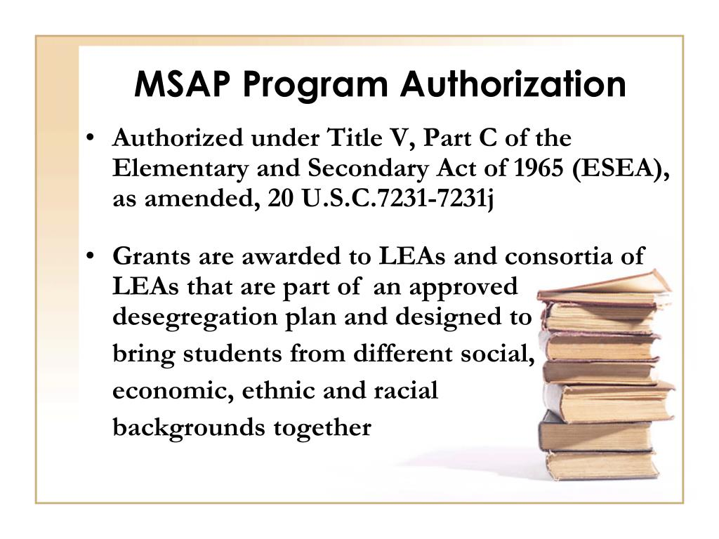 MSAP Program Authorization