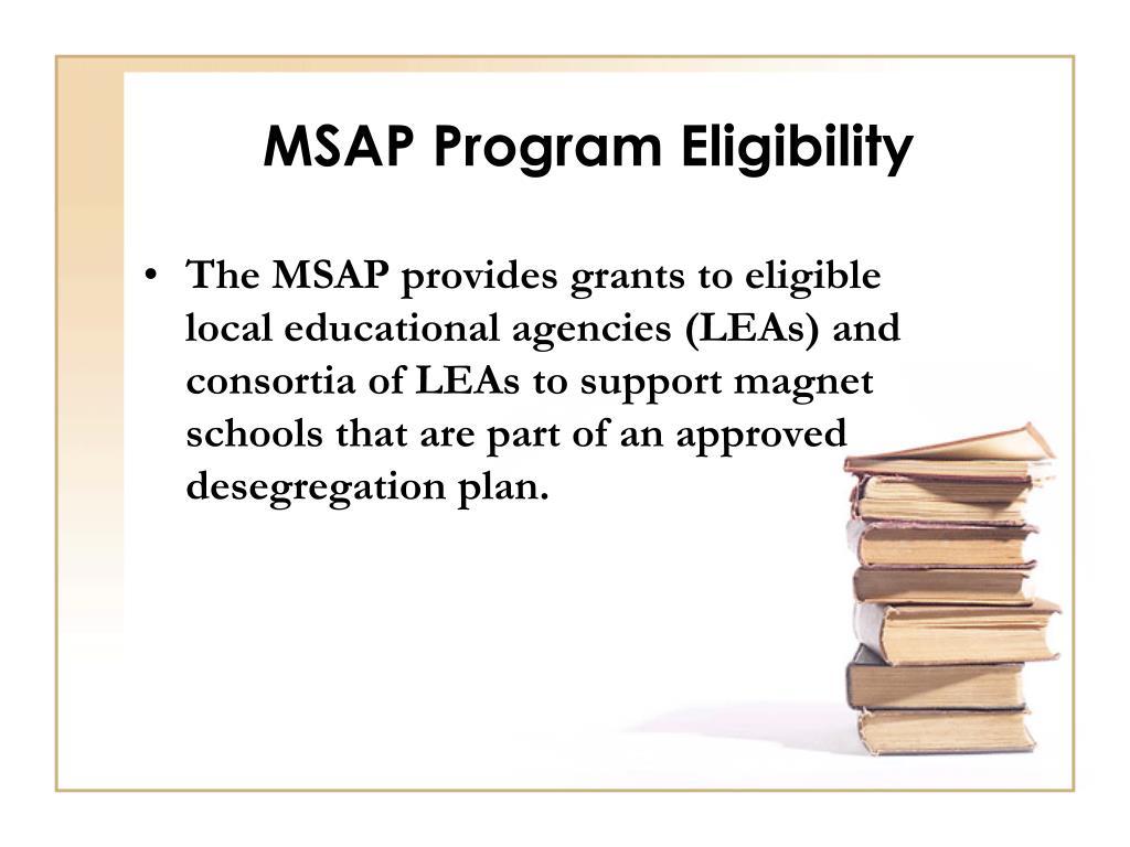 MSAP Program Eligibility