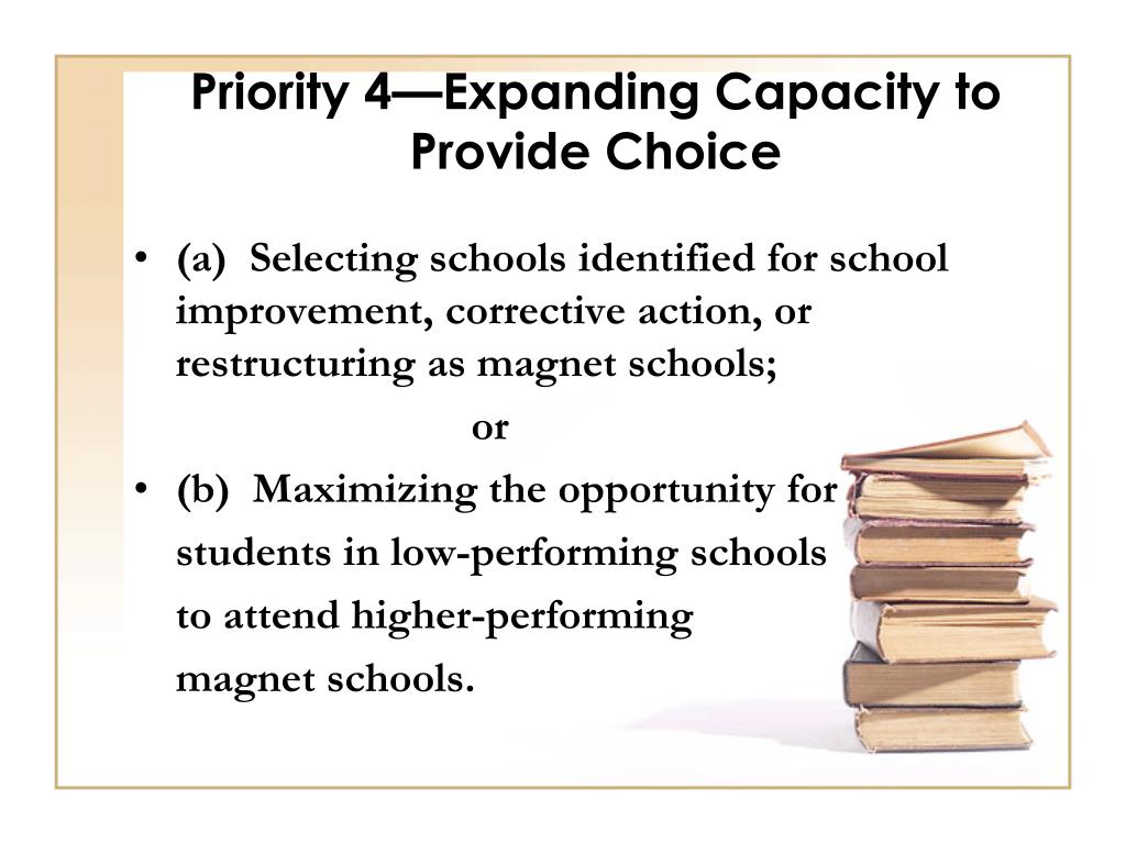 Priority 4—Expanding Capacity to Provide Choice