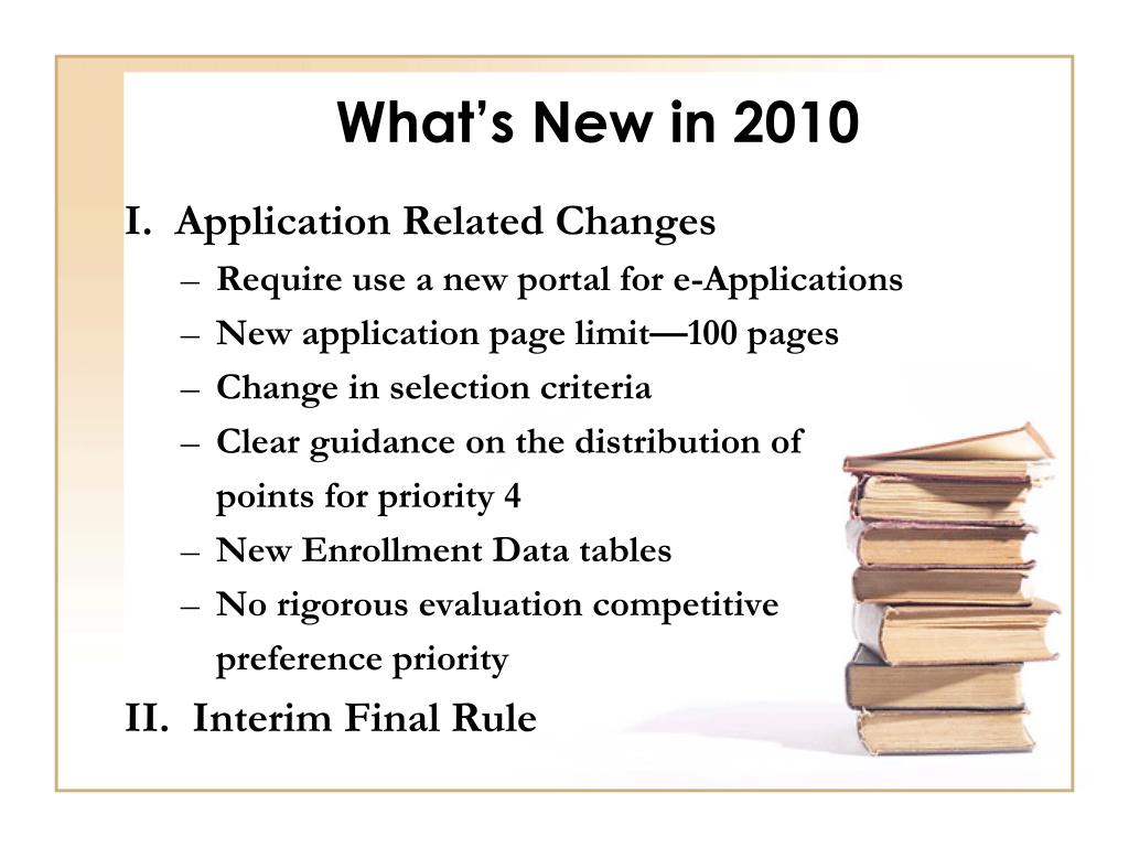 What's New in 2010
