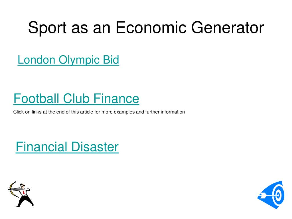 Sport as an Economic Generator