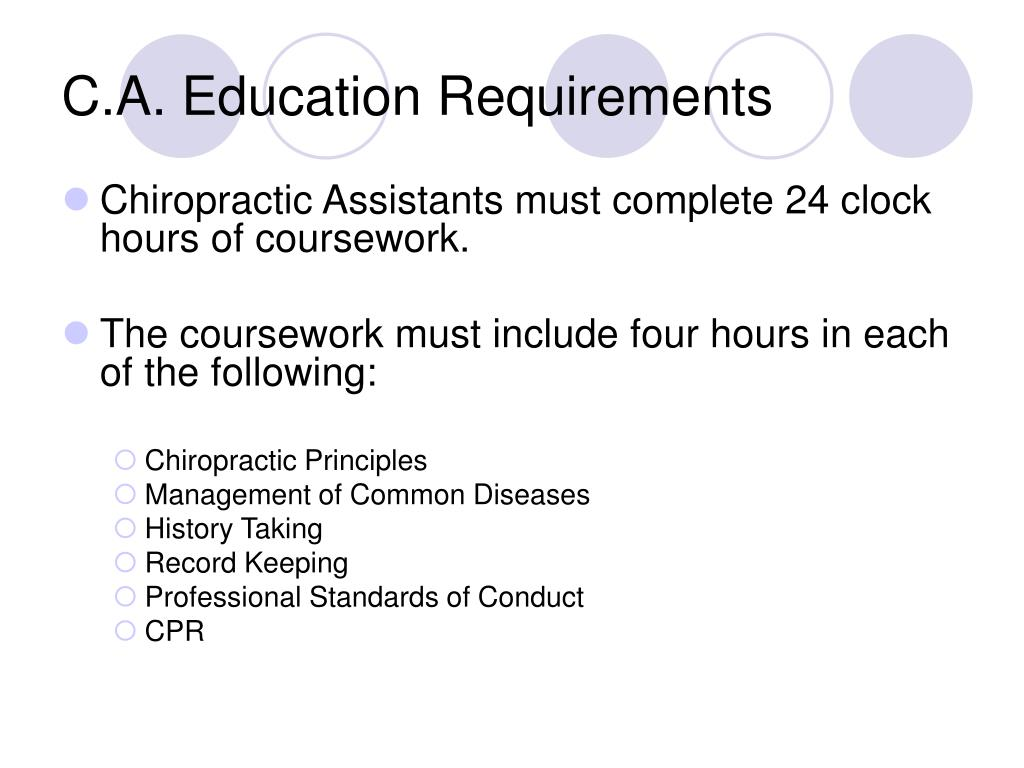 C.A. Education Requirements