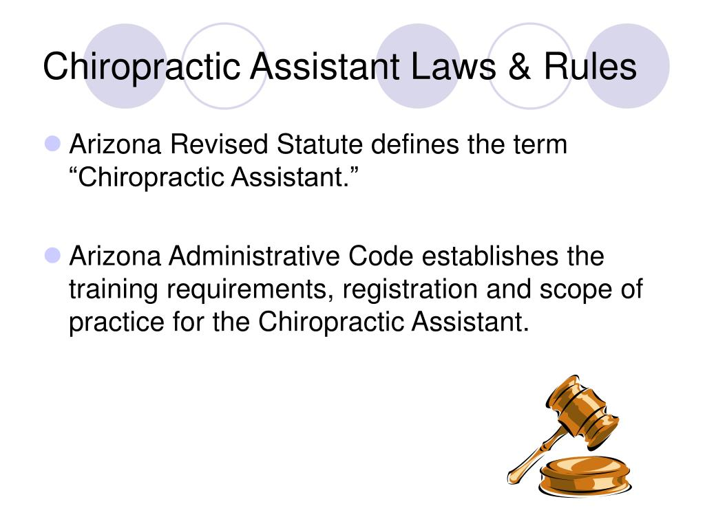 Chiropractic Assistant Laws & Rules