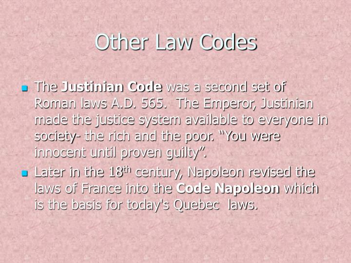 Other Law Codes