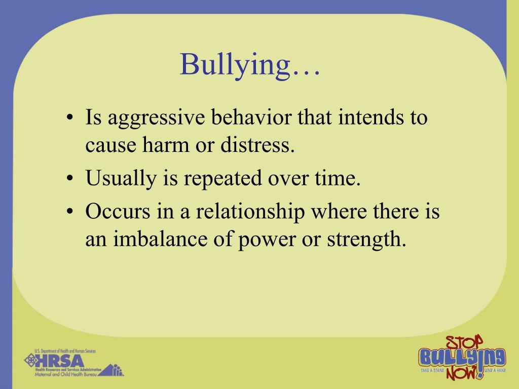 Bullying…