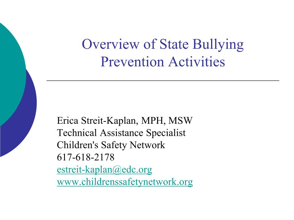 Overview of State Bullying Prevention Activities