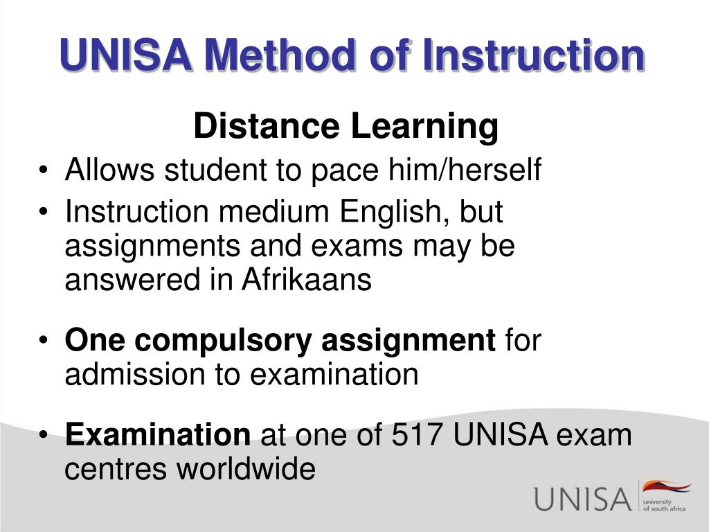 unisa assignments