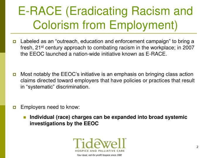E race eradicating racism and colorism from employment
