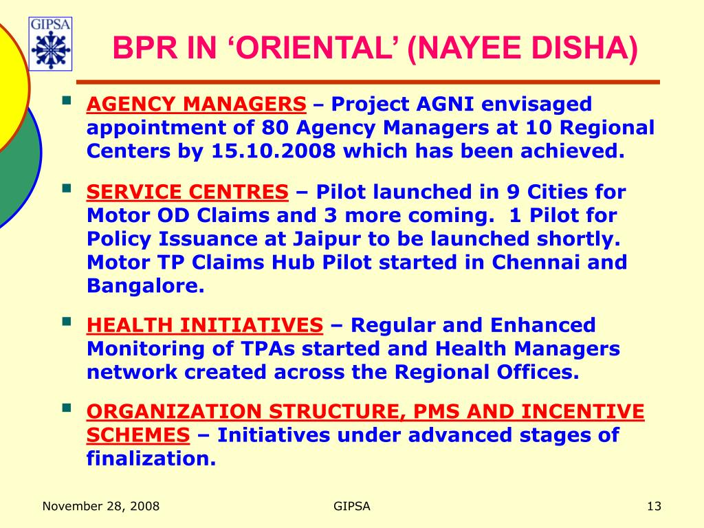 BPR IN 'ORIENTAL' (NAYEE DISHA)