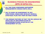business proces re engineering bpr in gipsa cos
