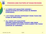 process and factors of wage revision