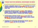 public sector general insurance in india
