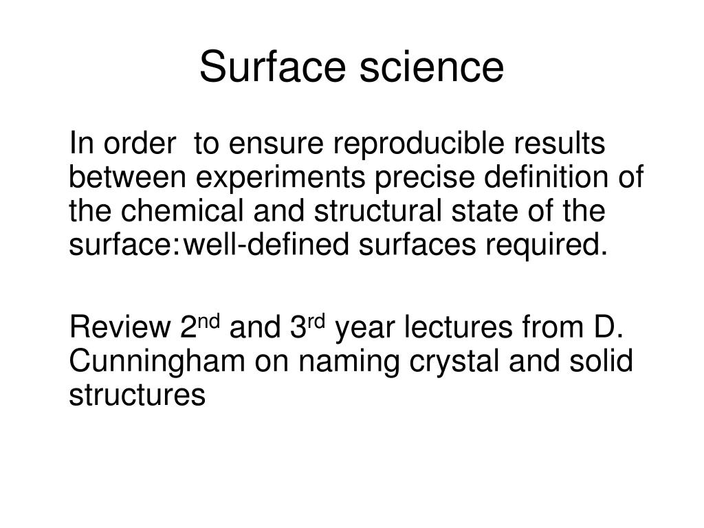 Surface science