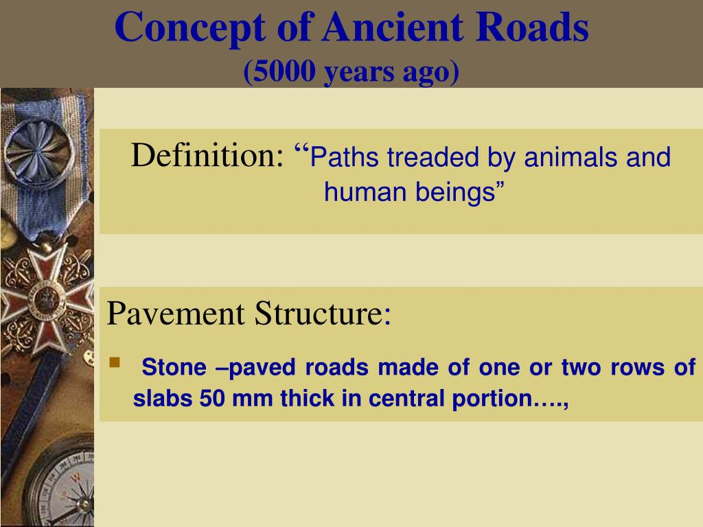 Concept of Ancient Roads